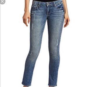 Paige Skyline Ankle Peg Skinny Denim Jeans